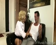 Naughty Milf Sits With Her Stepson To Know Him Better - scene 7