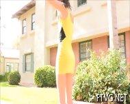 Woman Poses Before Camera - scene 2