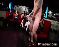 Group Of Amateur Cfnm Babes Sucking Stripper Cock At Party - scene 5