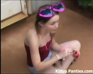 Watch Me Blowing Bubbles And Flashing My Panties In A Miniskirt - scene 3