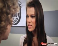 Busty Peta Jensen Gives Her Boss A Deepthroat After Work - scene 1