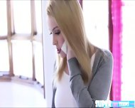 Sexy Blonde Alexia Gold Spots A Monster Dildo And Slides It In - scene 1