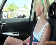 Cute Amateur Blonde Teen Dani Desire Railed In The Car - scene 2