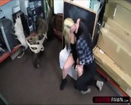 Brunette And Blonde Lesbians Wants To Sell Thier Moose Head Decoration - scene 5