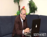 Teacher Is Getting Wet Blowjob - scene 1