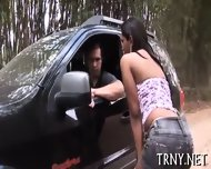 Horny Tranny Mounts A Dick - scene 4