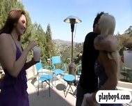 New Singles Playing Crazy Games Outside The Foursome Mansion - scene 1