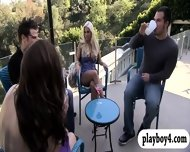 New Singles Playing Crazy Games Outside The Foursome Mansion - scene 5
