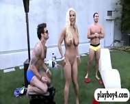 New Singles Playing Crazy Games Outside The Foursome Mansion - scene 7