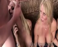 3 Stunning Cougars On All Fours Get Pumped By 2 Young Hunky Pervs - scene 11