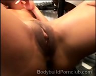 2 Muscled Pervs Smash Stunning Brunette At The Gym - scene 3