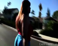Fat Beauty With Monumental Jugs Gets Teased At The Gym - scene 1