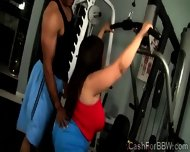 Fat Beauty With Monumental Jugs Gets Teased At The Gym - scene 12