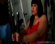 Fat Beauty With Monumental Jugs Gets Teased At The Gym - scene 7