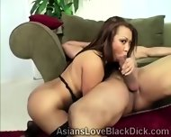 Brotha Splits A Tight Asian Pussy In Twice With His Huge Meatbone - scene 1