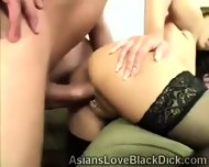 Brotha Splits A Tight Asian Pussy In Twice With His Huge Meatbone - scene 3