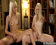Two Blonde Teens Rubbing Each Others Sweet Pussies - scene 9