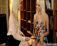 Two Blonde Teens Rubbing Each Others Sweet Pussies - scene 2