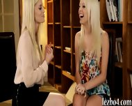 Two Blonde Teens Rubbing Each Others Sweet Pussies - scene 3