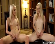 Two Blonde Teens Rubbing Each Others Sweet Pussies - scene 5