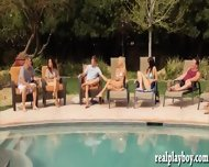 Bunch Of Nasty Swingers Having Fun In The Playboy Mansion - scene 1