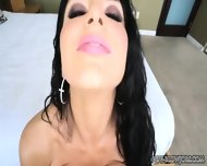 Busty Brunette Romi Rain Sucks - scene 8