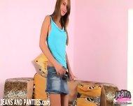 Curvy Teen Maggie Teasing Hard In Tight Jean Shorts - scene 8