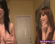 Horny Chicks Loved Being Pounded Hard In Their Shaved Pussies - scene 1