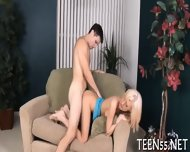 Provoking Teen Gets On Her Knees - scene 10