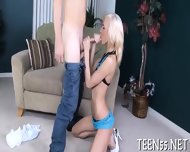 Provoking Teen Gets On Her Knees - scene 2