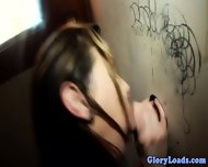 Glory Hole Skank Desperate For Cock - scene 10