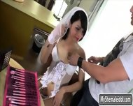 Cute Teen Shemale Gabriella Andrade In Bridal Gown Assfuck - scene 1