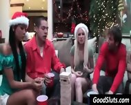 Boobs Flashing At Christmas Party - scene 3