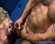 Muscular Mature Rims And Fucks Gym Partner - scene 12