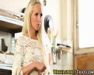 Pissing Blonde Babe Fucks - scene 1