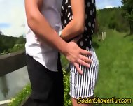 Outdoor Whore Pissed On - scene 3