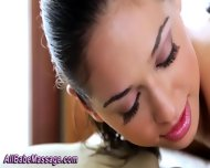 Big Tittied Lesbo Massage - scene 5
