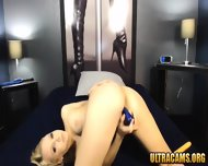 Beautiful Petite Blonde Girlfriend Fucks Her Tight Cunt - scene 4