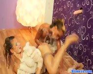 Pussylicking Lesbian Cumcovered At Gloryhole - scene 12