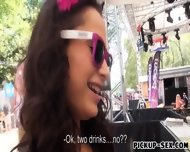 Real Amateur Euro Slut Aurelly Rebel Railed In Public - scene 1