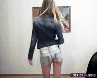 Blonde Teen Babe Teases And Dances - scene 1
