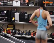 Gym Trainer Selling Her Stuff And Fucked At The Pawnshop - scene 2