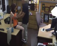 Busty Redhead Babe In Glasses Fucked At The Pawnshop - scene 4