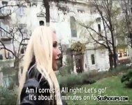 Busty Amateur Blonde Euro Slut Kyra Hot Railed For Cash - scene 2