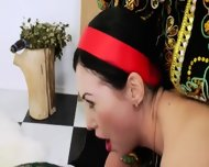 Three Russian Bottom Lesbians Dildoing - scene 5