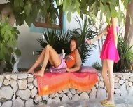 Two Russian Sapphic Girls Dildoing - scene 1