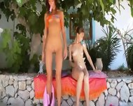 Two Russian Sapphic Girls Dildoing - scene 8