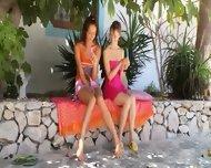 Two Russian Sapphic Girls Dildoing - scene 2