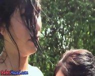 Outdoor Teen Pussy Clean - scene 4