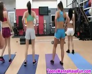 Real Party Teens In Gym - scene 10
